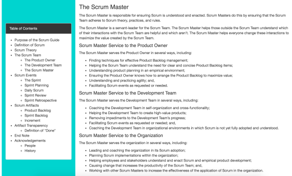 SM Scrum Guide